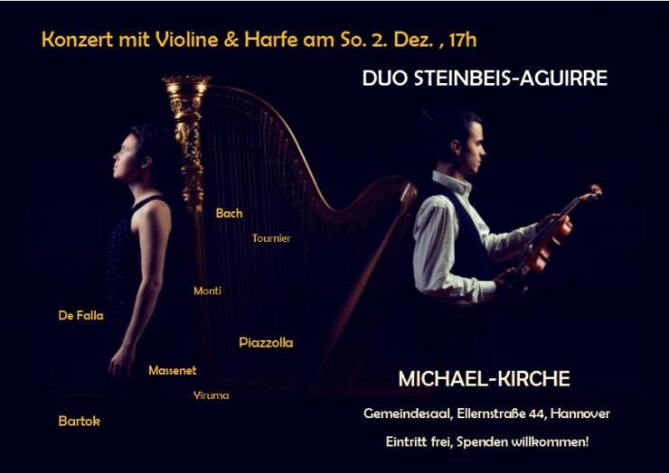 Handzettel Duo Konzert Hannover Überarbeitet